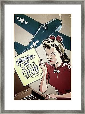 Grumman Sterling Poster Framed Print