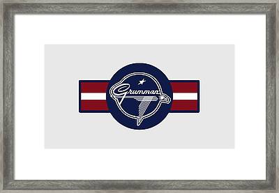 Grumman Stripes Framed Print
