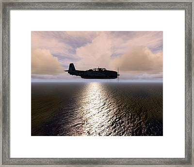 Framed Print featuring the digital art Grumman Tbf 01 by Mike Ray