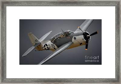 Grumman Tbf Avenger No.25 Framed Print by Gus McCrea