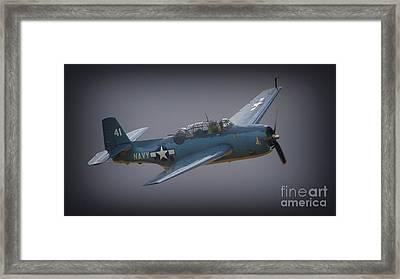 Grumman Tbf Avenger No.41 Bluegray Framed Print by Gus McCrea