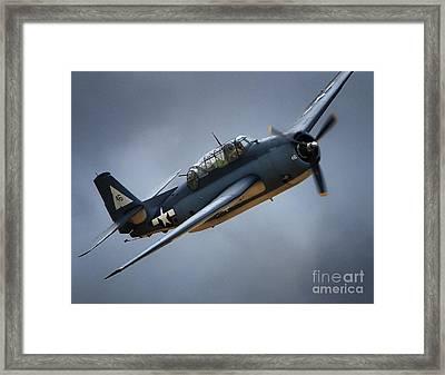 Grumman Tbf Avenger No.46 Framed Print by Gus McCrea