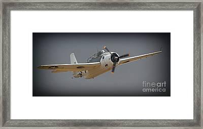 Grumman Tbf Avenger No.25 Again Framed Print by Gus McCrea