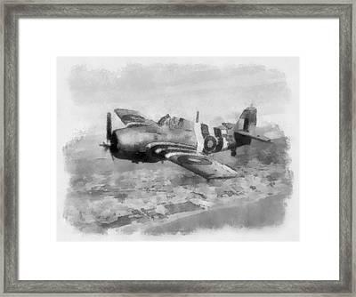Grumman Wildcat Of No 846 Squadron Fleet Air Arm Framed Print