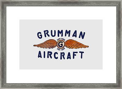 Grumman Wings Blue Framed Print