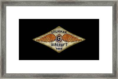 Grumman Wings Diamond Framed Print