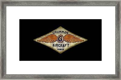 Grumman Wings Diamond Framed Print