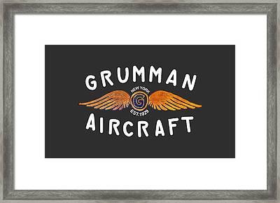 Grumman Wings Gold Framed Print