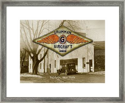 Grumman Wings Framed Print