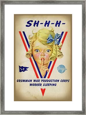 Grumman Worker Sleeping Poster Framed Print