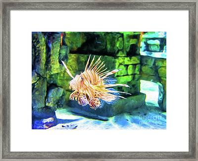Grumpy Old Fish - Digital Art Framed Print by Kathleen K Parker