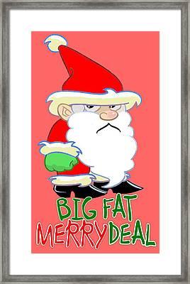Grumpy Santa Framed Print