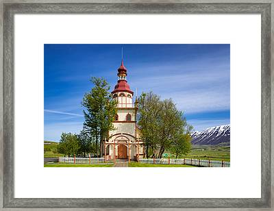 Grundarkirkja Church North Iceland Europe Framed Print