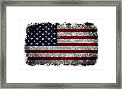 Grunge American Flag Framed Print by Martin Capek