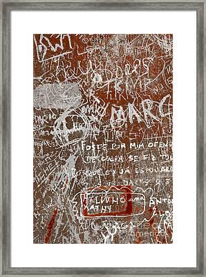 Grunge Background Framed Print by Carlos Caetano