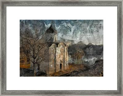 Grunge Church On River Framed Print by Yury Malkov