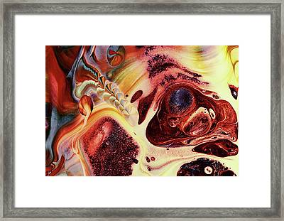 Grunge Embryo Of Life On Earth Abstract Framed Print