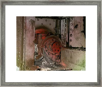 Grunge Gear Motor Framed Print by Robert G Kernodle