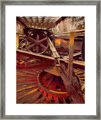 Framed Print featuring the photograph Grunge Gears by Robert Kernodle