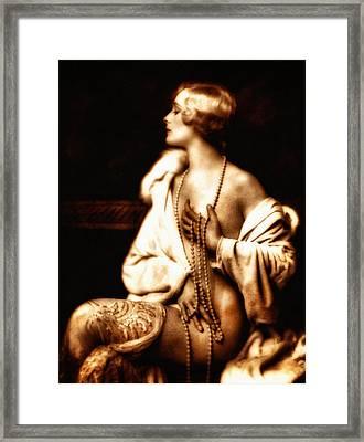 Grunge Goddess Framed Print