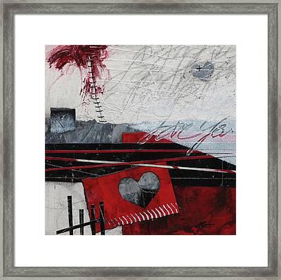 Grunge Heart  Framed Print