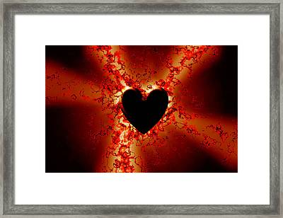 Grunge Heart Framed Print by Phill Petrovic