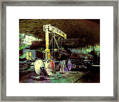 Grunge Hydraulic Lift Framed Print by Robert G Kernodle