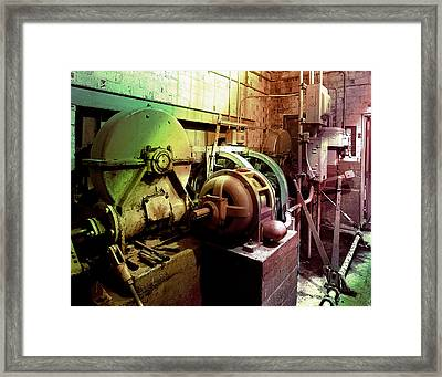 Framed Print featuring the photograph Grunge Hydroelectric Plant by Robert G Kernodle