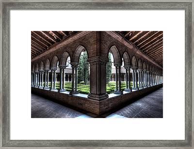 Grunge Image Of The Eglise Des Jacobins Framed Print