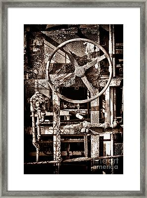 Grunge Machinery Framed Print by Olivier Le Queinec