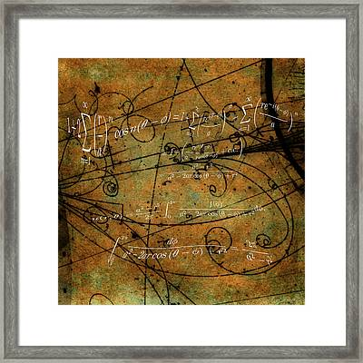 Grunge Math Equations Framed Print by Robert G Kernodle