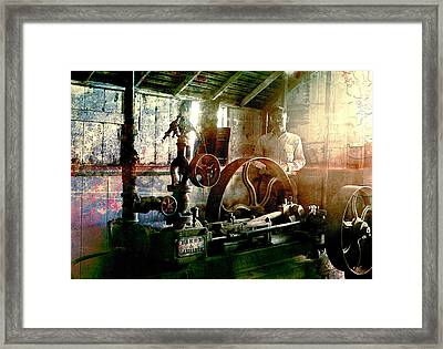 Grunge Meyer Mill Framed Print by Robert G Kernodle