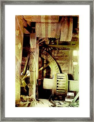 Grunge Mill Wheels Framed Print by Robert G Kernodle