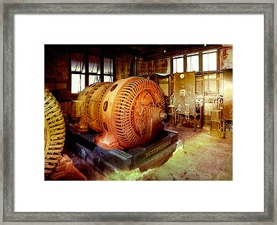 Framed Print featuring the photograph Grunge Motor Generator by Robert G Kernodle
