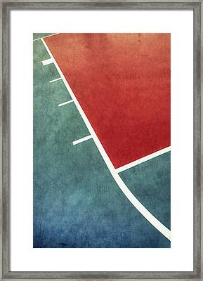 Framed Print featuring the photograph Grunge On The Basketball Court by Gary Slawsky