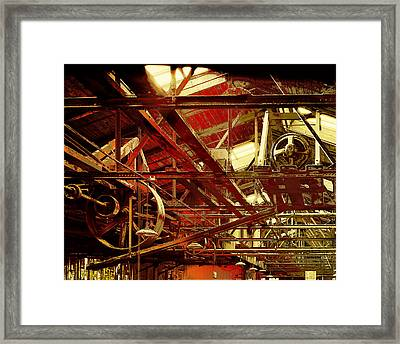 Grunge Power System Framed Print by Robert G Kernodle