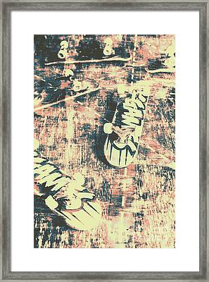 Grunge Skateboard Poster Art Framed Print by Jorgo Photography - Wall Art Gallery