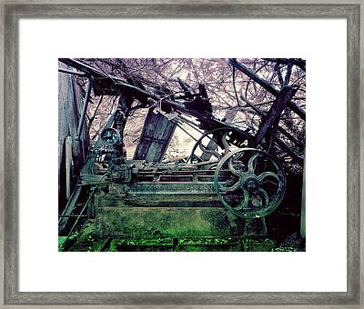 Grunge Steam Engine Framed Print by Robert G Kernodle