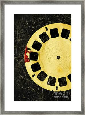 Grunge Toy Artwork Framed Print