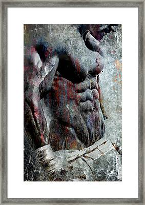 Grungy Hulk Framed Print