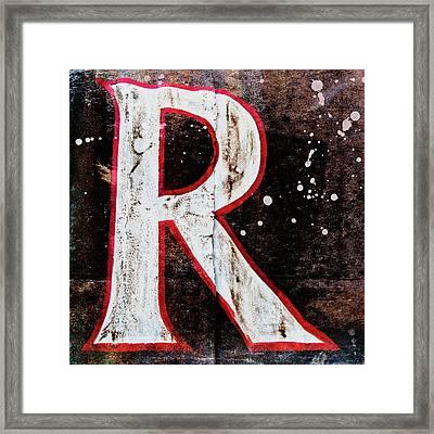 Grungy Letter R Framed Print