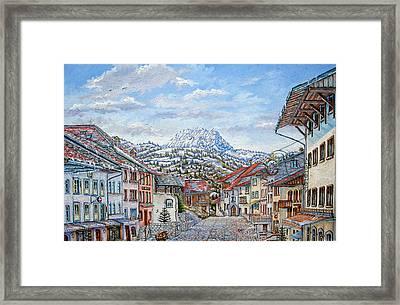Gruyeres Switzerland - Swiss Alps Village Framed Print