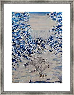 Gryfalcon In Taos Framed Print by George Chacon