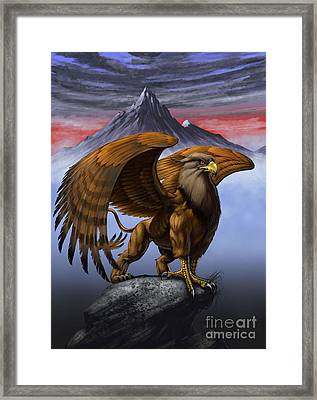 Gryphon Framed Print by Stanley Morrison