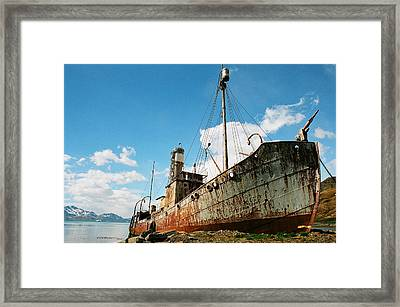 Grytviken Whaler Framed Print
