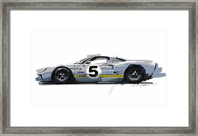 Gt40 Framed Print by Peter Fogg