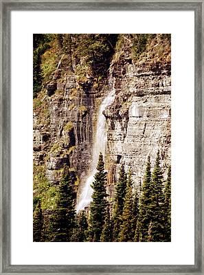 Gtts Waterfall Framed Print by Marty Koch