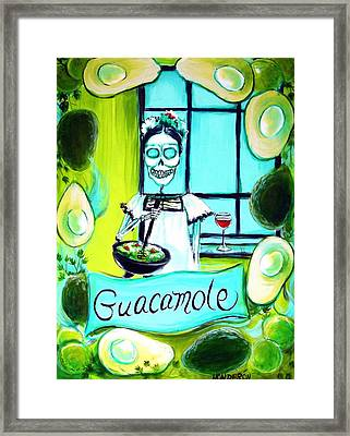 Guacamole Framed Print by Heather Calderon