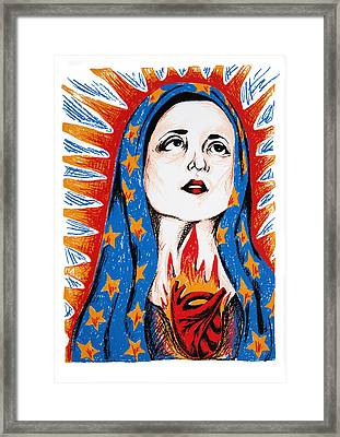 Guadalupe Framed Print by DeAnn Acton
