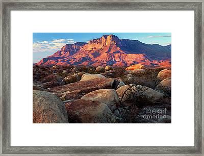 Guadalupe El Capitan Framed Print by Inge Johnsson